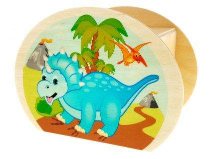 Hess Dřevěná pokladnička dinosaurus