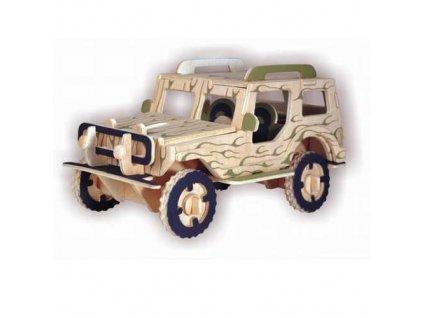 Woodcraft Dřevěné 3D Jeep