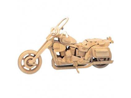 Woodcraft Dřevěné 3D puzzle motorka Harley Davidson II