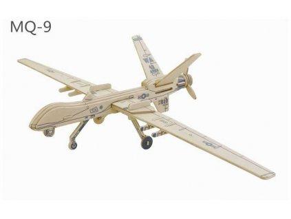 RoboTime Dřevěná skládačka americký dron MQ9