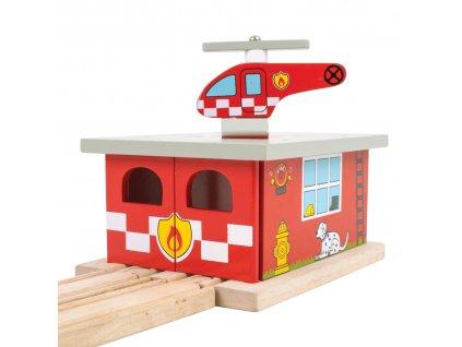 Bigjigs Rail Depo hasičská stanice