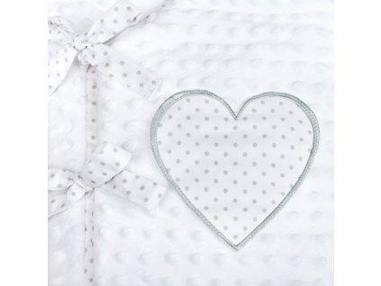 Luxusní šněrovací zavinovačka z Minky New Baby 75x75 cm - bílá
