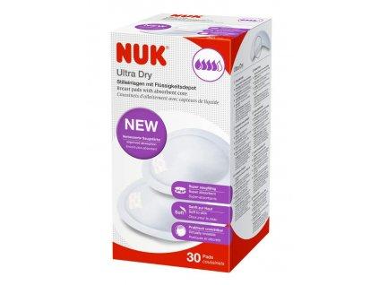 Prsní polštářky NUK High Performance 30 ks - bílá