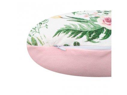 Kojící polštář New Baby Kočka Velvet růže - růžová