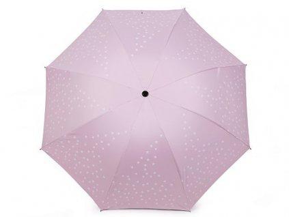 Dámský deštník - hvězdy - růžový