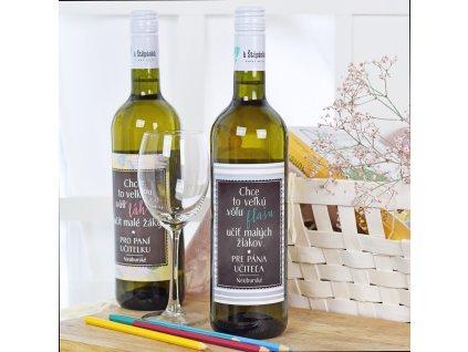 Dárkové víno - bílé - Chce to velkou láhev (pro pana učitele) SK