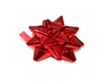 Roseta metalic střední - červená