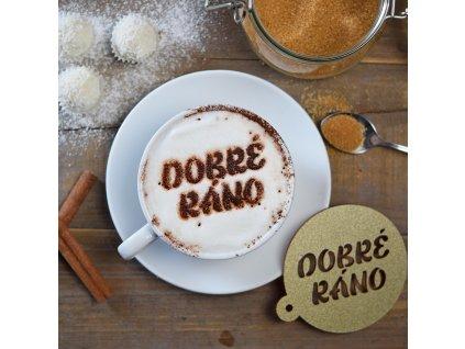 Dekorační sypátko na kávu - Dobré ráno