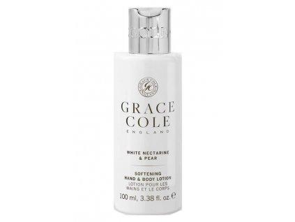 Grace Cole Hydratační mléko na ruce a tělo v cestovní verzi -White Nectarine & Pear