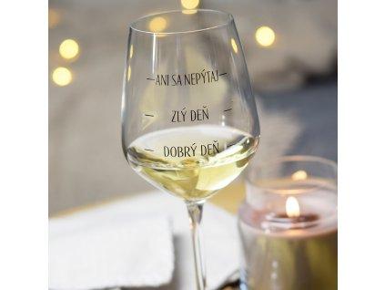 Sklenice na víno SK - Dobrý deň