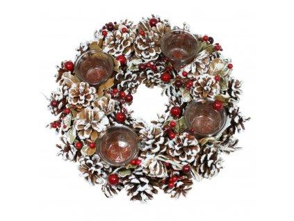 Vánoční věnec šiškový s kalíšky