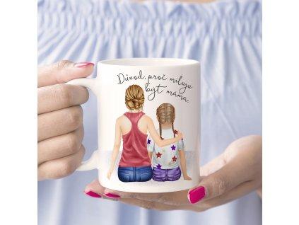 """Hrnek """"Miluju být máma"""" - varianta dcera"""