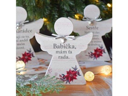 """Vánoční anděl - """"Babička, mám ťa rada."""" SK"""