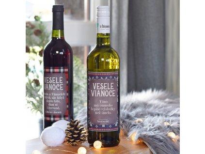 """Vánoční víno - """"Lepší než jmelí!"""" (BÍLÉ) SK"""