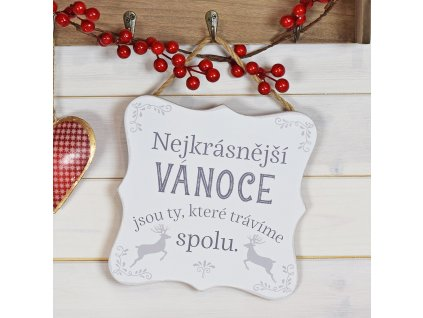Cedulka - Nejkrásnější Vánoce trávíme spolu ...