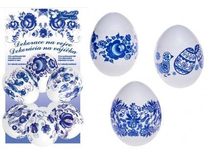 Smršťovací dekorace na vejce - modré