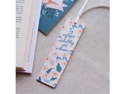 Dřevěná záložka do knížky - Ty nejlepší učitelky učí srdcem.