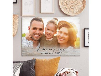 Obraz na plátno s dřevěným podkladem - na míru