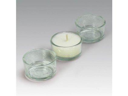 Sklenička ke svícnům na čajové svíčky
