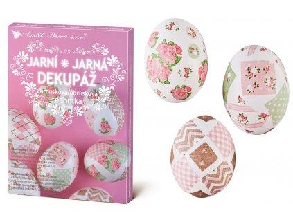 Sada k dekorování vajíček - jarní dekupáž