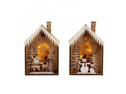 LED - Vánoční domeček - 2 motivy Santa motiv