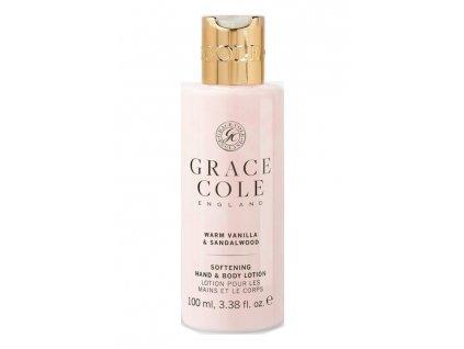 Grace Cole Hydratační mléko na ruce a tělo cestovní - Warm Vanilla & Sandalwood, 100ml