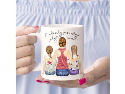 "Hrnek ""Miluju být máma"" - varianta dcera, dcera"