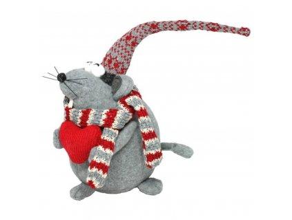 Myška se srdíčkem