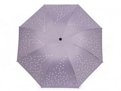 Dámský deštník - hvězdy - fialový