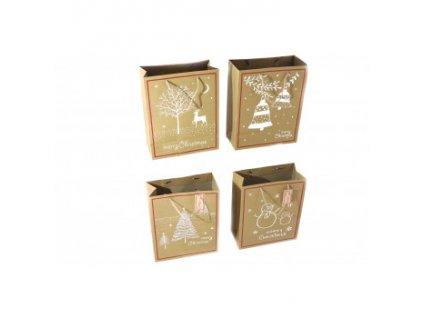 Dárková taška - Merry Christmas - 4 designy na výběr Zvonečky Barva
