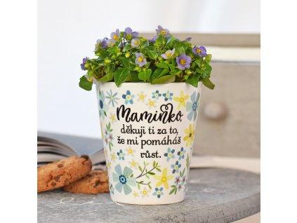 """Květináč pro maminku - """"Maminko, děkuji..."""""""