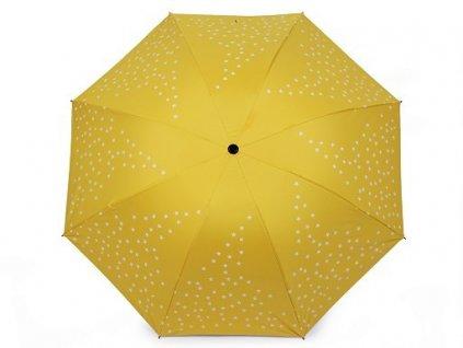 Dámský deštník - hvězdy - žlutý