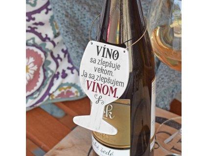 Cedulka na víno - Zlepšuji se vínem SK