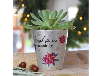 Vánoční květináč pro maminku