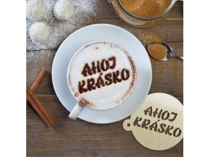 Dekorační sypátko na kávu - Ahoj, krásko!