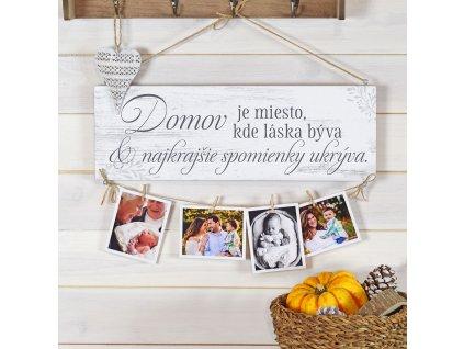 Cedule pro fotografie - Domov je místo, kde vzpomínky jsou tvořeny SK