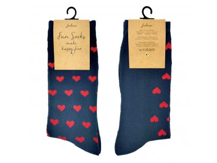 Modré ponožky se srdíčky