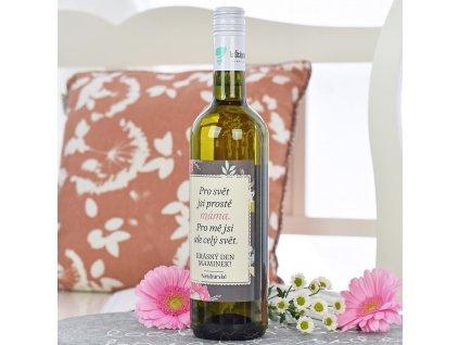 Dárkové víno - bílé - Máma je celý svět 0,7 l