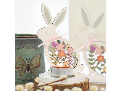 Jarní zajíček - svícen