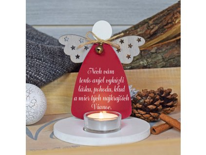 Svícen anděl - Krásné Vánoce - Slovenská verze