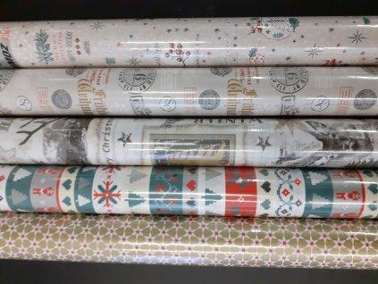 Balicí papír - 5 motivů na výběr motiv les barva