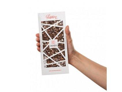 Hořká čokoláda Passion s kávou, kakaovými boby a jasmínem