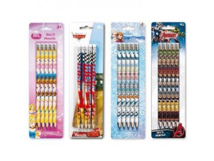 Grafitová tužka - set 5 ks - 4 motivy na výběr Princezny Design