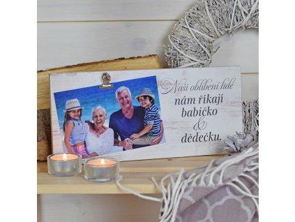 Fotocedulka pro babičku a dědečka