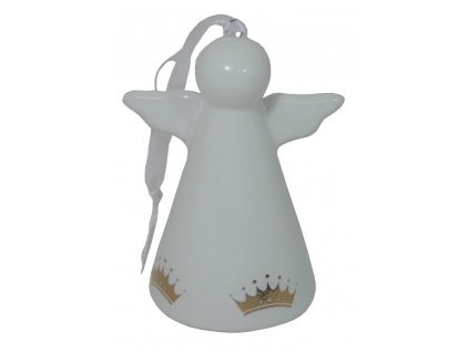 Bílý anděl - zlatá korunka