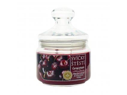 Svíčka ze sójového vosku - Černá třešeň velká