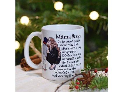 Hrnek - Máma a syn - obrázek