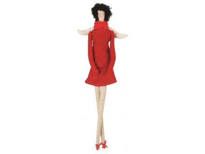Andělka na posazení - červený svetřík