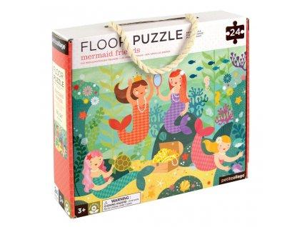 Petit Collage Podlahové puzzle mořské víly