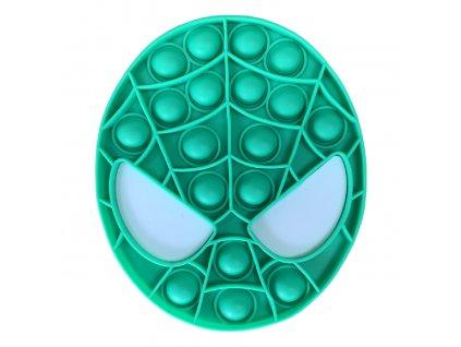 Pop It antistresová hračka Spiderman zelený